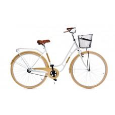 """Pilsētas velosipēds Grunberg, 28"""", pieejamās krāsas, melns/brūns un balts/bēšīgs."""