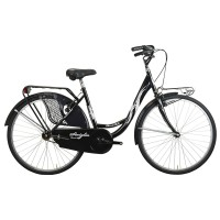 """Pilsētas velosipēds Glamur Olanda, 26"""",pieejami baltā un melnā krāsā."""